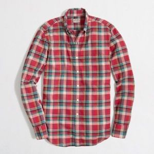 J. Crew Summer Plaid Shirt Long Sleeve Cotton